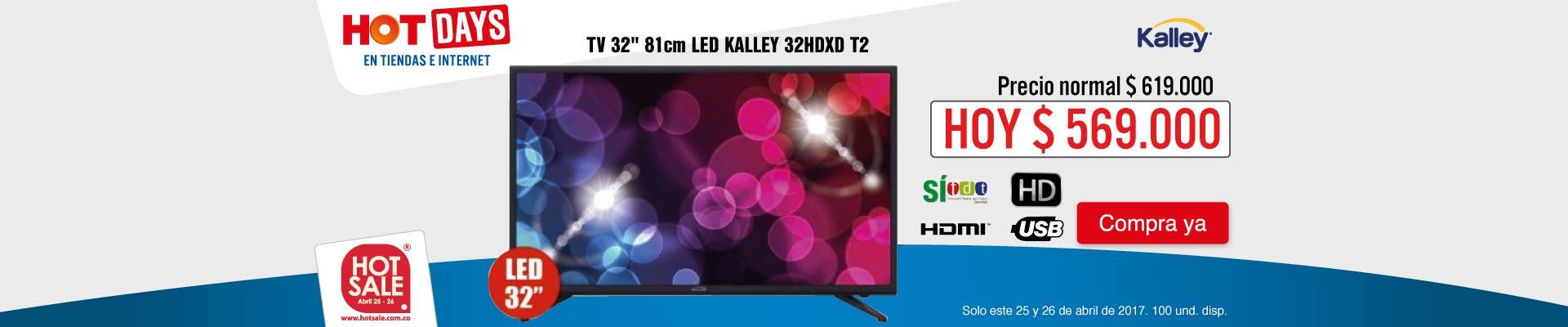 PPAL KT - TV Kalley 32HDXD - ABR 25 HotSale