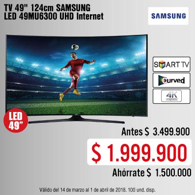 BIG 1 KT-tv-Tv49'124cm Sams 49MU630-prod-Marzo 21-24