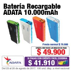 TCAT KT 12 Acc Bateria Adata 10000 Septiembre 23-26