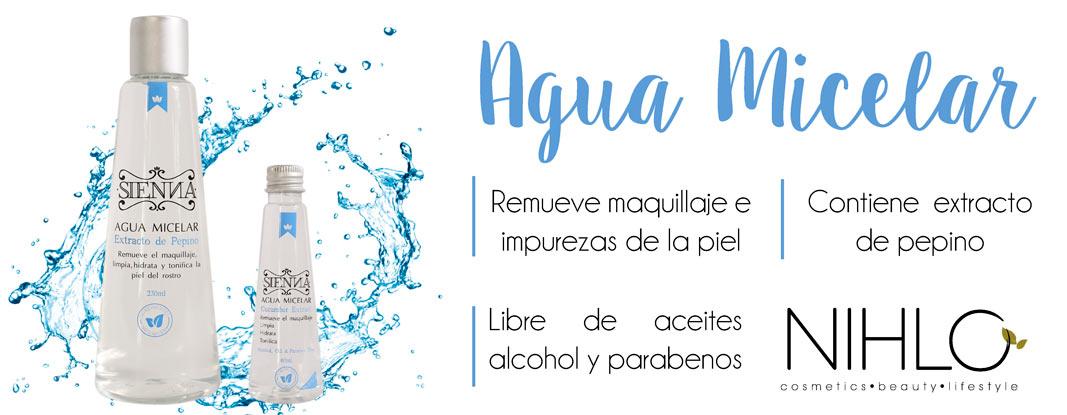 Agua micelar - banner principal nihlo