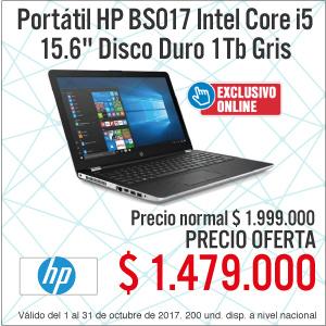 TCAT KT-2-computadores-Portátil HP BS017 Intel Core i5 15.6