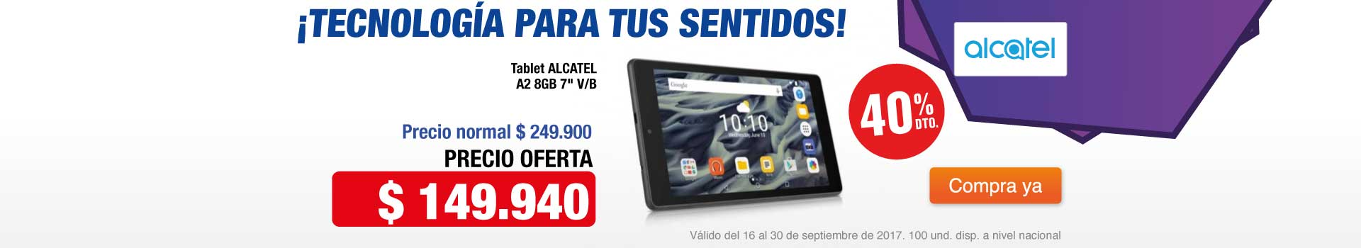CAT AK-1-tablets-Tablet ALCATEL A2 8GB 7