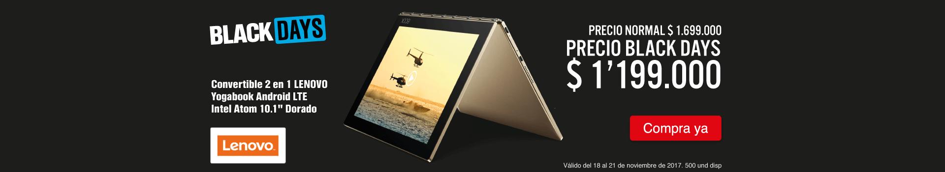 HIPER KT-1-computadores-Convertible 2 en 1 LENOVO - Yogabook Android LTE Intel Atom 10.1