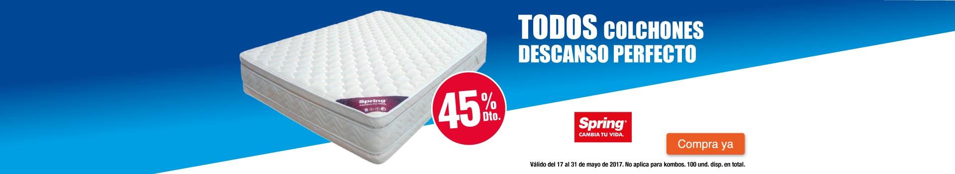 CAT AK - COLCHONES - 45%dto en colchones Spring Descanso Perfecto - may17