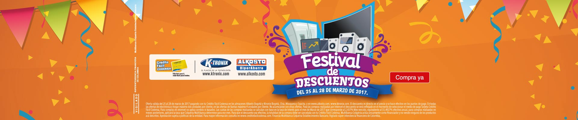 CAT Festival descuentos Codensa 25 Mar
