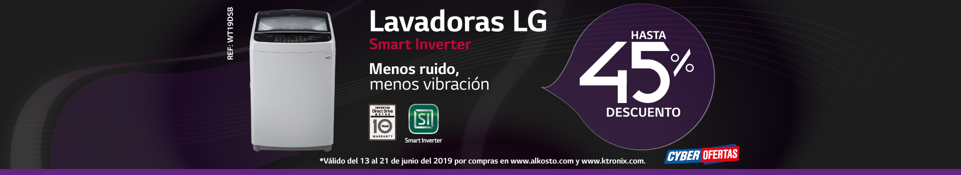 AK-KT LB LG LAVADORAS SMART-INVERTER  BCAT1-LAV 17 JUNIO