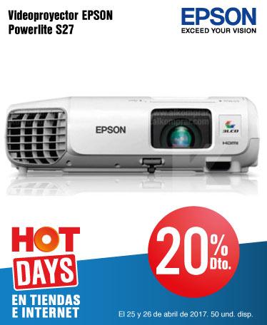 OFER KT INF - 20% Dto. en Videoproyector EPSON Powerlite S27 - Abr 25 - Hot days