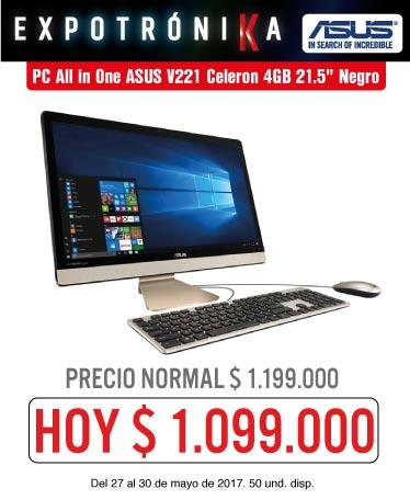 OFER KT INF - PC All in One ASUS V221 Celeron 4GB 21.5