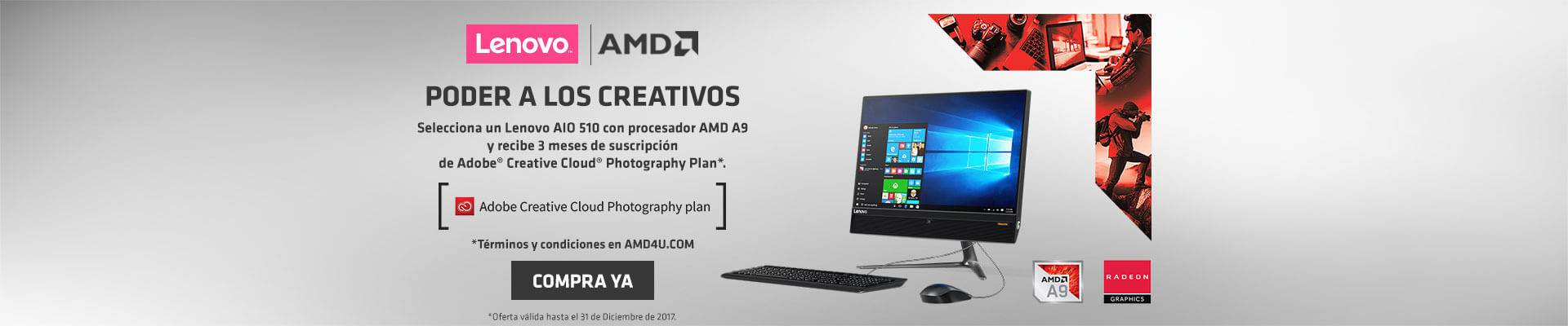 EXP AMD AK- PPAL-9-computadores-PC All in One LENOVO 510 AMD A9 21.5