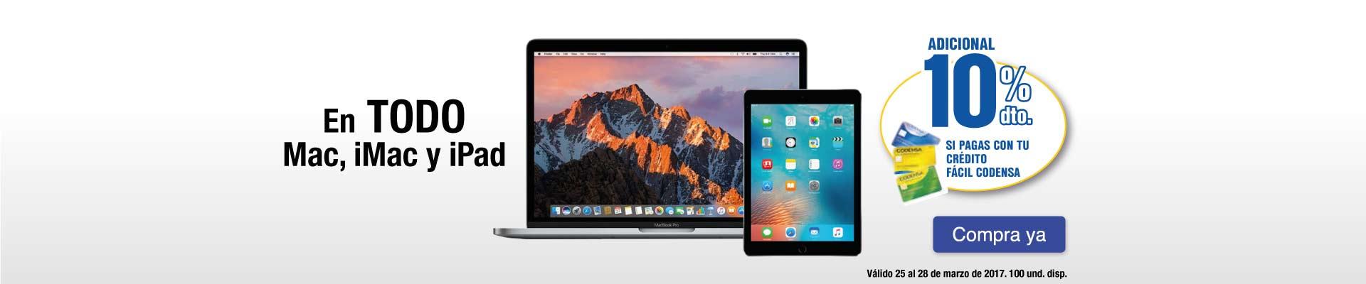 PPAL KT - 10% Dto. Adicional Codensa en todo Mac, iMac y iPad - Mar 25
