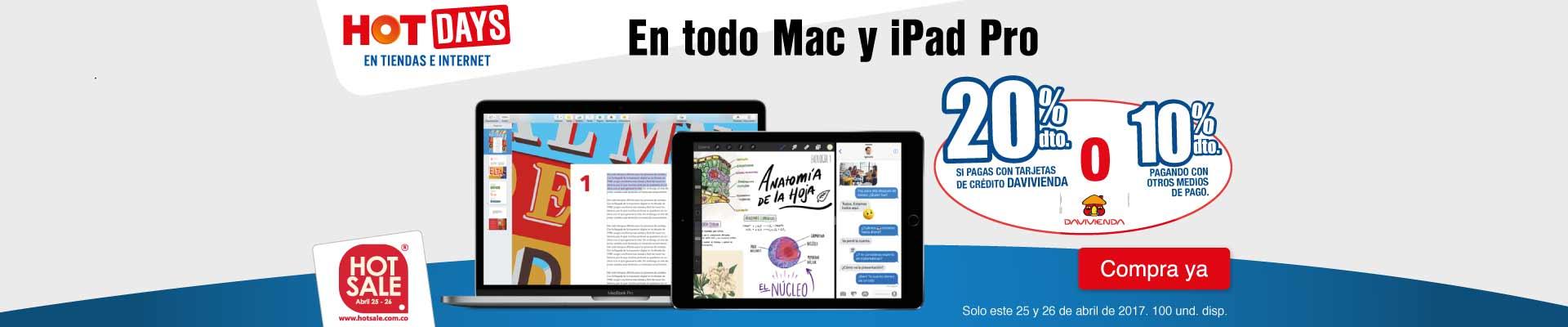 PPAL KT INF - 20% Dto. en todo Mac y iPad Pro - Abr 25 - Hot days