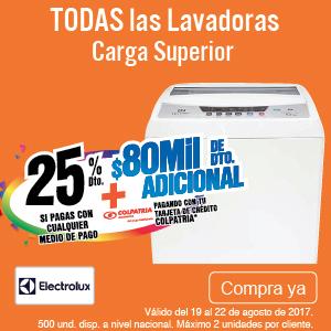 TCAT AK 4 lb 25%dto LavCsElectrolux ago 19-22