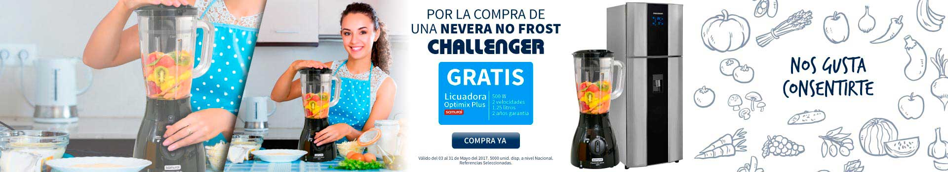 CAT NEV - mayo 5 - Obsequios CHALLENGER Neveras NO FROST