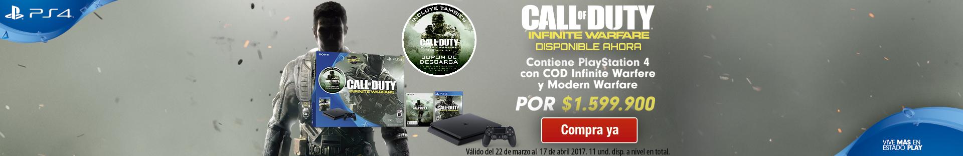 consolas COD infinite warfare