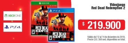 AK-KT-INSTVIDJ-1-VIDEOJ--XBOX ONE- PS4-VIDEOJUEGO-Red Dead Redemption 2-DICIEMBRE-12