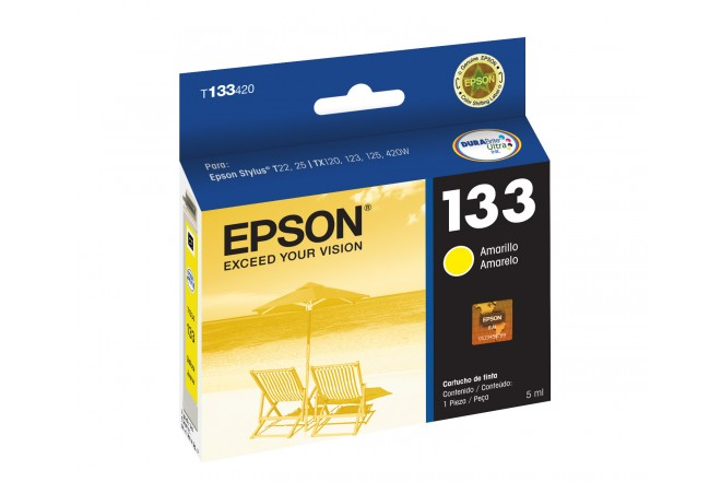 Cartucho EPSON T133420-AL TX125 Yellow