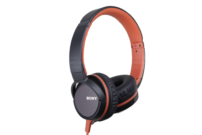 Audífono SONY Alámbrico On Ear 660 Naranja