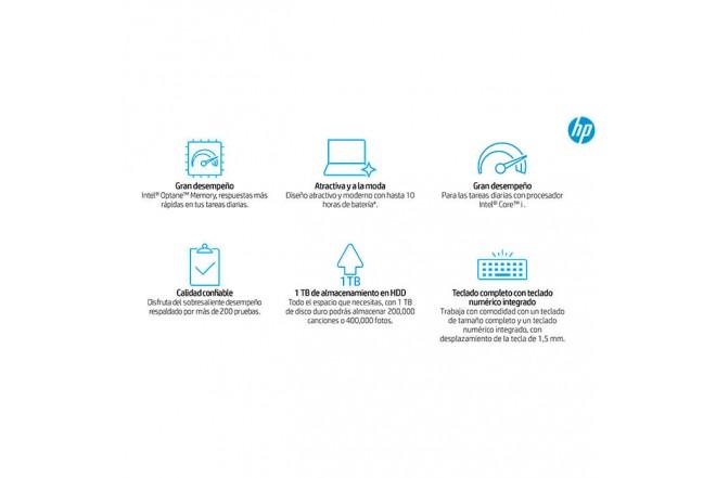 """Portátil HP - 15-da0024la - Intel Core i5 - 15.6"""" Pulgadas - Disco Duro 1Tb - Negro5"""