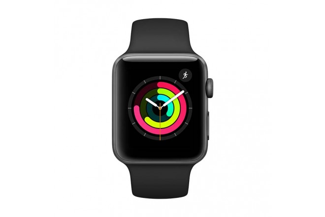 Reloj APPLE WATCH S3 GPS 42M Gris Espacial - Negro