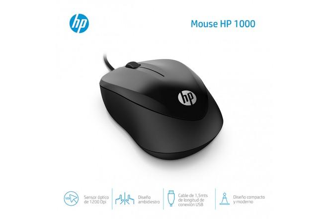 Mouse HP Alambrico Optico 1000 Negro 2
