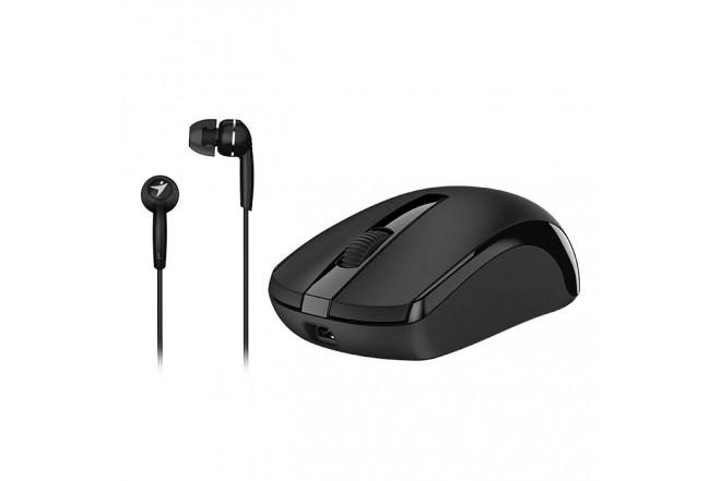 Mouse GENIUS inalámbrico recargable + Audífonos inalámbricos Negro