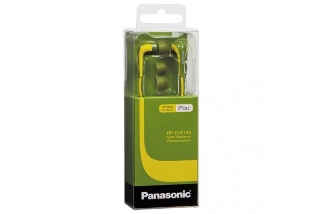 Audífonos PANASONIC Alámbricos In Ear HJE140 Verde