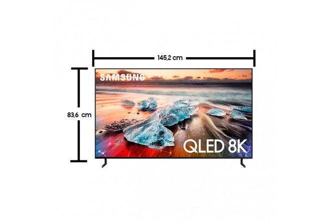 "Televisor SAMSUNG 65"" 163 centimetros QLED 65Q900 8K HDR"