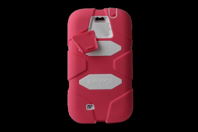 Funda GRIFFIN Survivor Samsung Galaxy S4 Rosado Blanco (Accesorios)