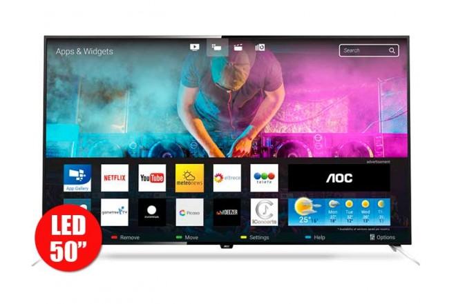 """TV 50"""" 126cm AOC 50U7970I 4K UHD Internet"""