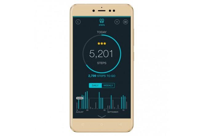 Celular Libre DOPPIO Forza DS 4G Dorado