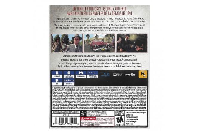 Videojuego PS4 L.A. Noire