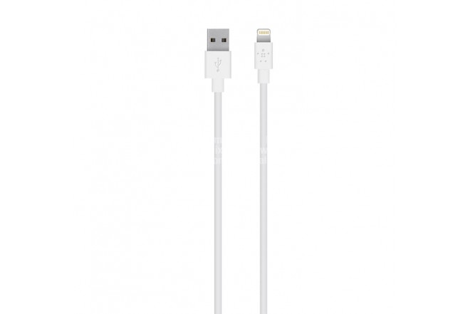 Cable BELKIN Carga Lightning Connector 1.2 M Blanco