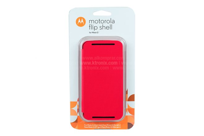 FlipCover Motorola Nuevo Moto G Rojo