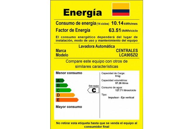 Lavadora CENTRALES 9 Kg LCA90SZI2 Gris4