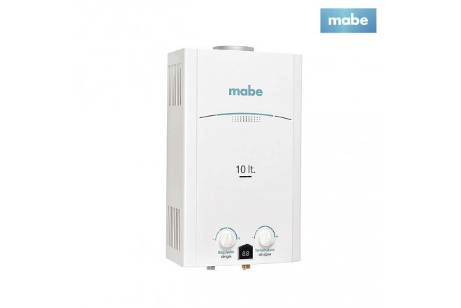 Calentador MABE de Tiro Natural 10L CMP10TNBC Blanco