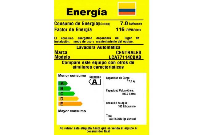 Lavadora CENTRALES 17Kg LCA77114CBA Blanco2