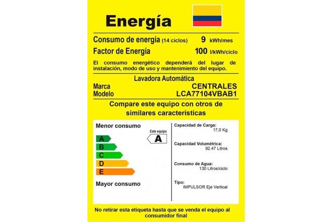 Lavadora CENTRALES 17 Kg LCA77104VBAB1 Blanco4