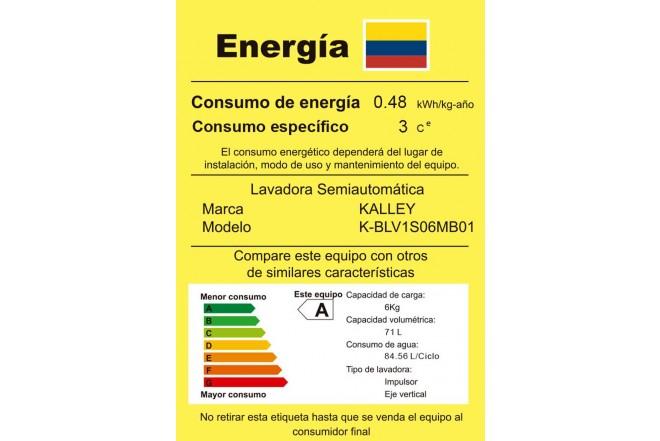 Lavadora Manual KALLEY K-BLV1S06MB01 Blanco3