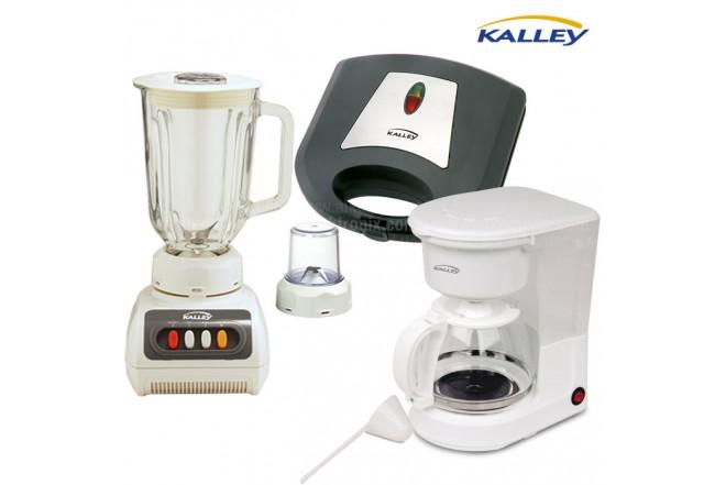 Kombo KALLEY Licuadora LPV40 + Sanduchera SM300N + Cafetera CM100K