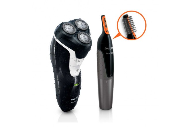 Combo PHILIPS Afeitadora AT610 + Recortador NT3160