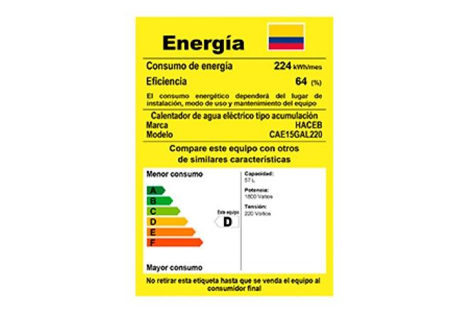 Calentador de Acumulación Haceb Eléctrico 10 Galones 220V8