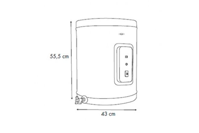 Calentador de Acumulación Haceb Eléctrico 10 Galones 220V7