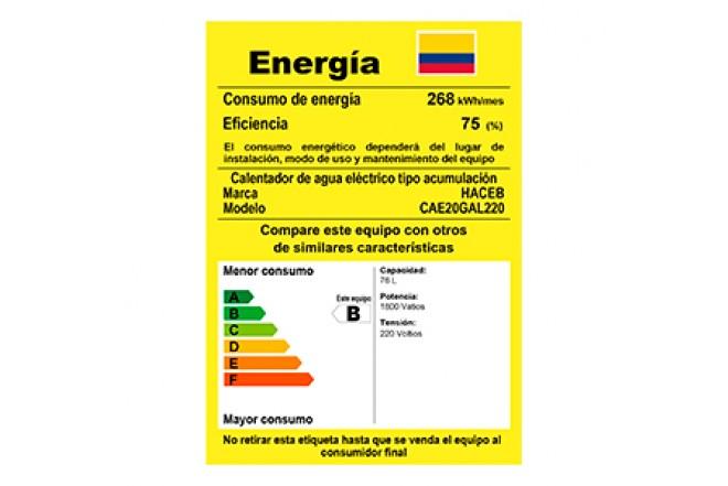 Calentador de Acumulación Haceb Eléctrico 20 Galones 220V9