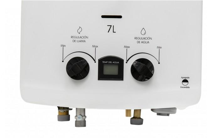 Calentador de Paso HACEB 7 Litros Tiro Natural Blanco con Display 5