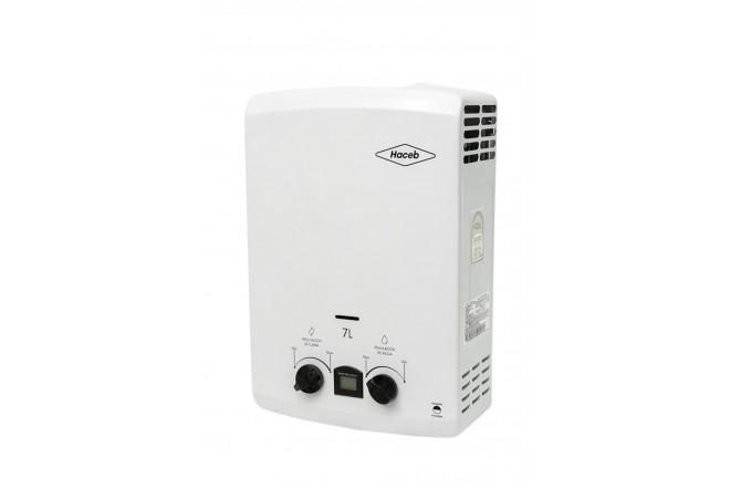 Calentador de Paso HACEB 7 Litros Tiro Natural Blanco con Display 3