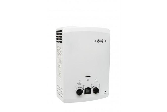Calentador de Paso HACEB 7 Litros Tiro Natural Blanco con Display 6