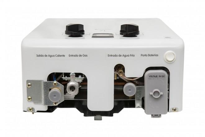 Calentador de Paso HACEB 7 Litros Tiro Natural Blanco con Display 2