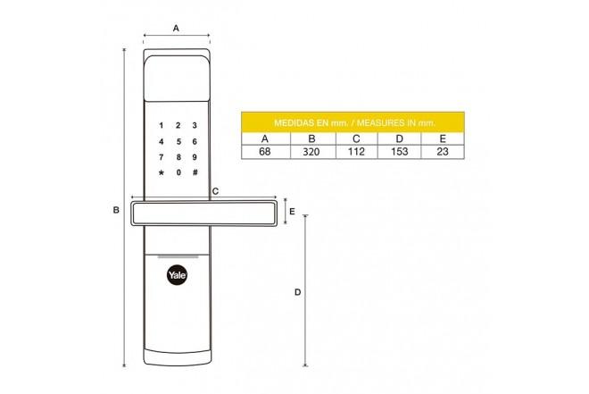 Cerradura YALE Digital Clave y Tarjeta YMF30