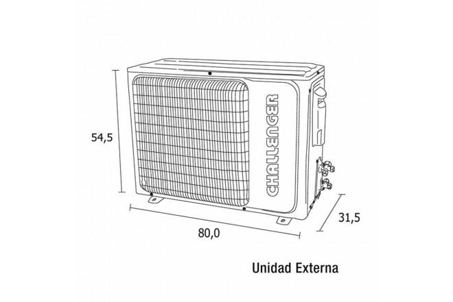 Aire Acondicionado CHALLENGER Inverter 18000BTU 220V Blanco5