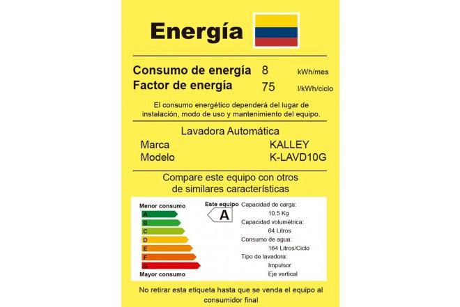 Lavadora KALLEY 10Kg KYLAVD10G Gris7